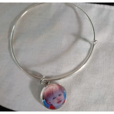 Bangel bracelet personalized photo charm