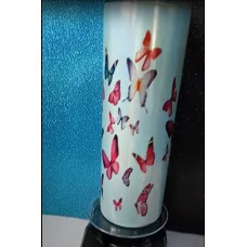Tumbler - Butterfly 20oz teal/Blue glitter